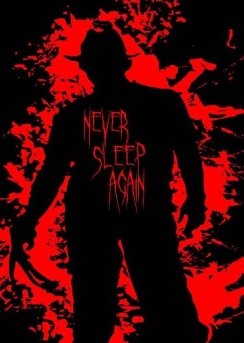 1980's Movie - NIGHTMARE ON ELM STREET - NEVER SLEEP / canvas print - self adhesive poster - photo